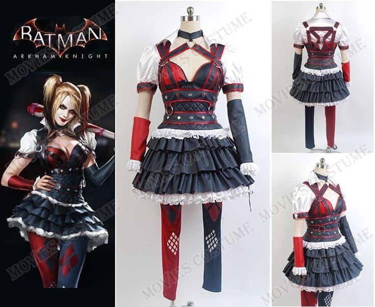 Arkham Knight Harley Quinn Dress Cosplay Costume for Batman Cosplay
