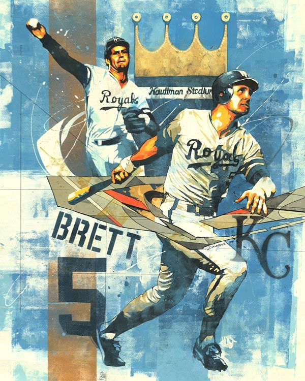 An Artistic Look at Major League Baseball - George Brett - Photo: Art by Dragon76