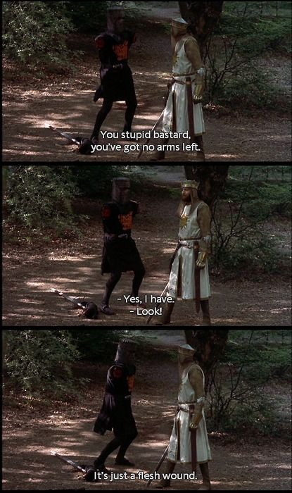 Monty Python and the Quest for the Holy Grail... Black Knight Scene.