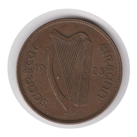 Irish One Penny 1928 Coin Code:JMC1887 by COINSnCARDS on Etsy