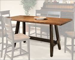 small rectangle kitchen table. Long enough for 2 side by the side and one on each end. And narrow