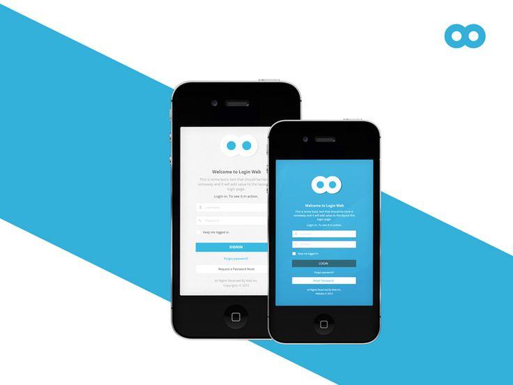Best 25+ Mobile website template ideas on Pinterest | Blue website ...