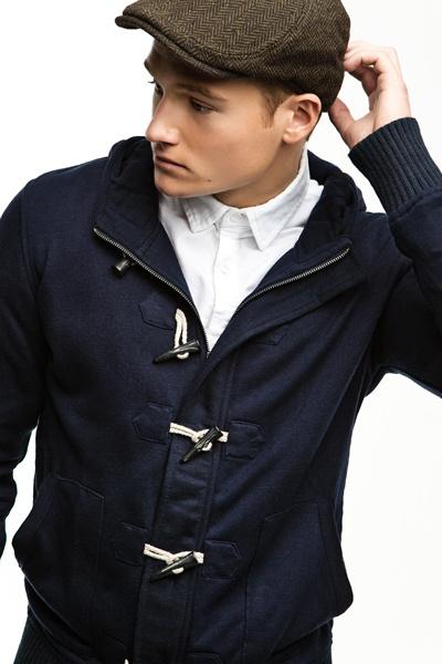 hooded toggle jacket and herringbone hat  3  d7565163e4a