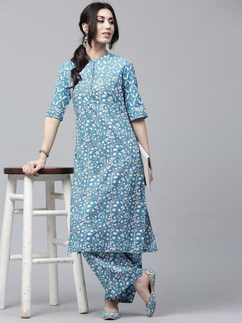 6b20c1cd2ad Women indian kurta kurti Long Maxi Dress top tees bottom Floral  Sundress-nk390