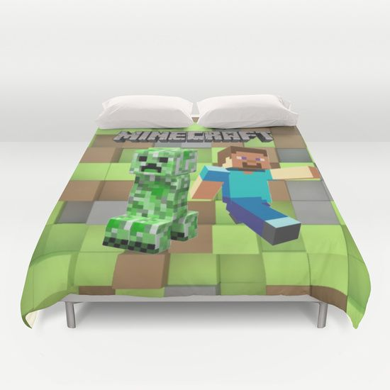 Best 25 minecraft bedding ideas on pinterest bed minecraft minecraft designs and minecraft - Housse de couette minecraft ...