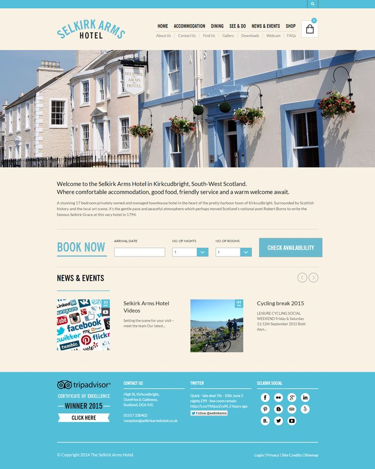 This example shows just how versatile The Retailer theme is. It provides all the looks and functionality needed to run a hotel business so they can offer their online visitors, soon-to-be offline visitors, the best possible experience with their brand. https://themeforest.net/item/the-retailer-responsive-wordpress-theme/4287447?utm_source=pinterest.com&utm_medium=social&utm_content=selkirk&utm_campaign=showcase #siteoftheday #website #wordpress #hotel #ecommerce