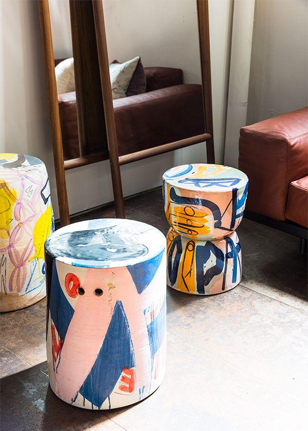 A trio of stools by Reinaldo Sanguino