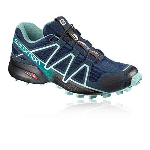 Salomon Women's Speedcross 4 PoseidonEggshell BlueBlack