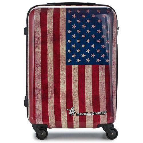 Kufferter fra David Jones er blevet deciderede modeartikler. Med denne skalkuffert i mellemstørrelse med det amerikanske flag er du med på den seneste mode! Praktisk og let at håndtere med plads til det hele! - Farve : Rød / Blå - Tasker 472,00 Kr