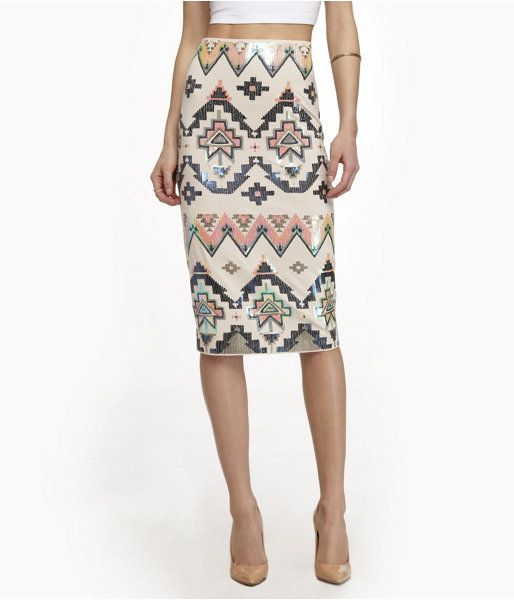 details about nwt express aztec midi sequin