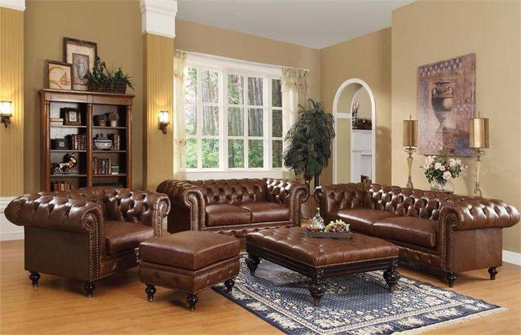 Shantoria Brown Sofa Set Acme 51315