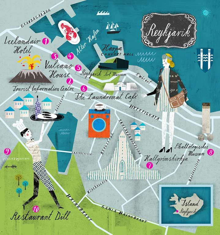 Reykjavik, Martin Haake | Illustrators | Central Illustration Agency