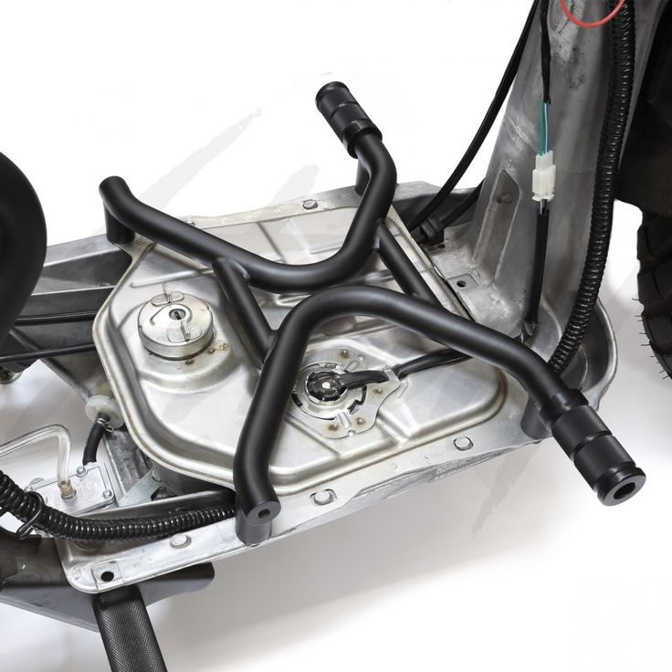 Chimera X Factor Foot Rest for Honda Ruckus! Designed to give your Honda Ruckus a whole new look and comfort! Available in Gloss Black or Matte Black. Pegs are not included.