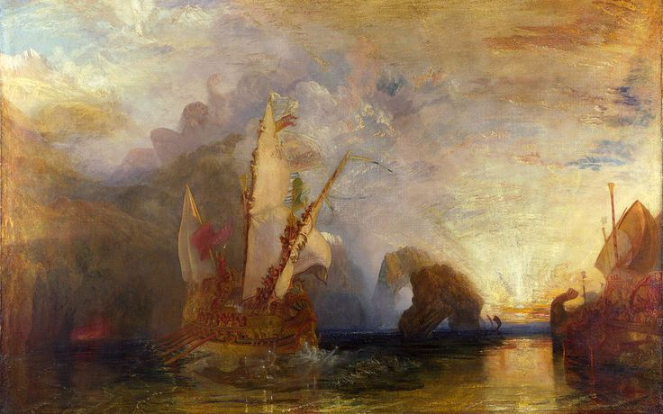 Ulisse schernisce Polifemo, William Turner, 1829. Olio su tela, 133×203 cm. National Gallery, Londra