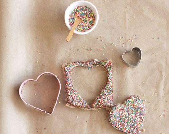 Chocolate Heart Fairy Bread