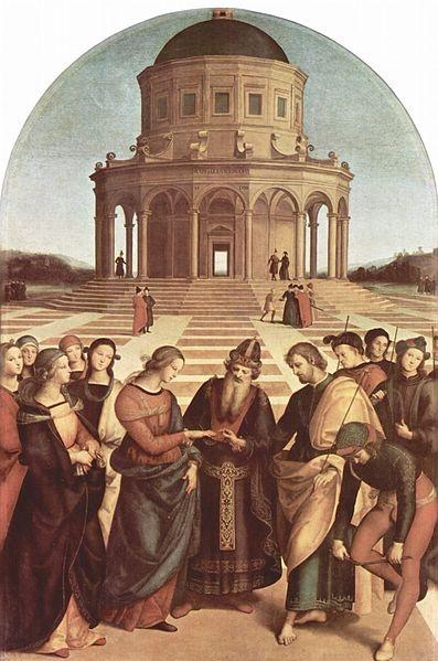 Pinacoteca di Brera, Пинакотека Брера.  Raffael   Рафаэль, «Обручение Марии»