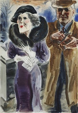 George Grosz - New York Couple 1933