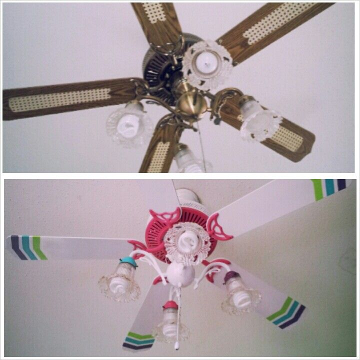Beautiful Ceiling Fan Makeover...loveeee The Tips Of The Blades