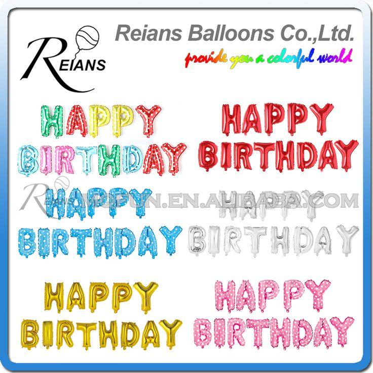 16 inch English Alphabet Helium Set Birthday Party Happy Birthday Party Decorations Kids Letter Birthday balloon, Event Supplie #ChristmasDecor