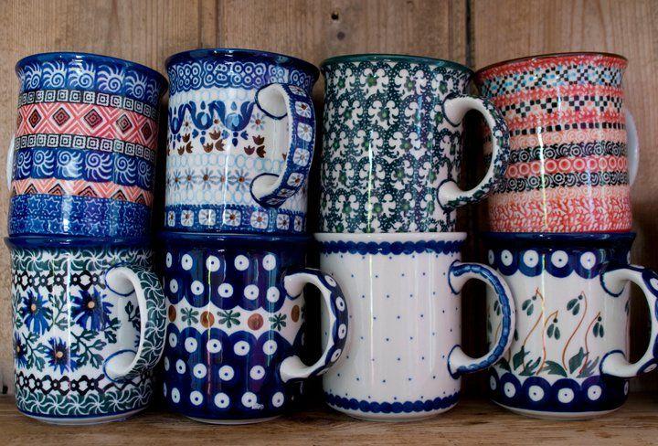 Pretty Polish Pottery.  Boleslawiec, Poland.  Made by Ceramika Artystyczna.