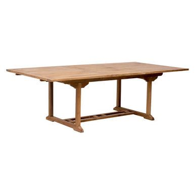 Outdoor Teak Extendable Dining Table
