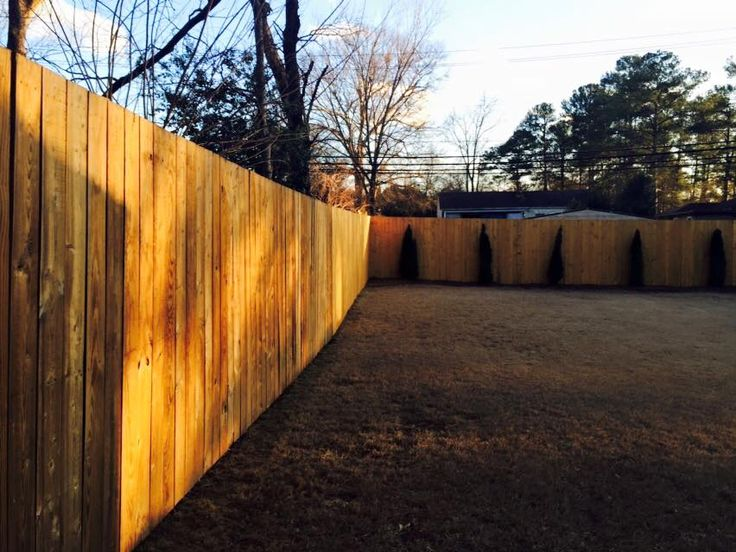 New fencing installed.