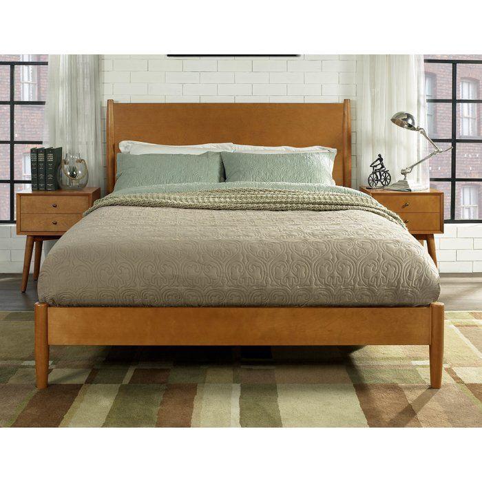 Easmor Platform Bed Upholstered Platform Bed Mid Century Bed