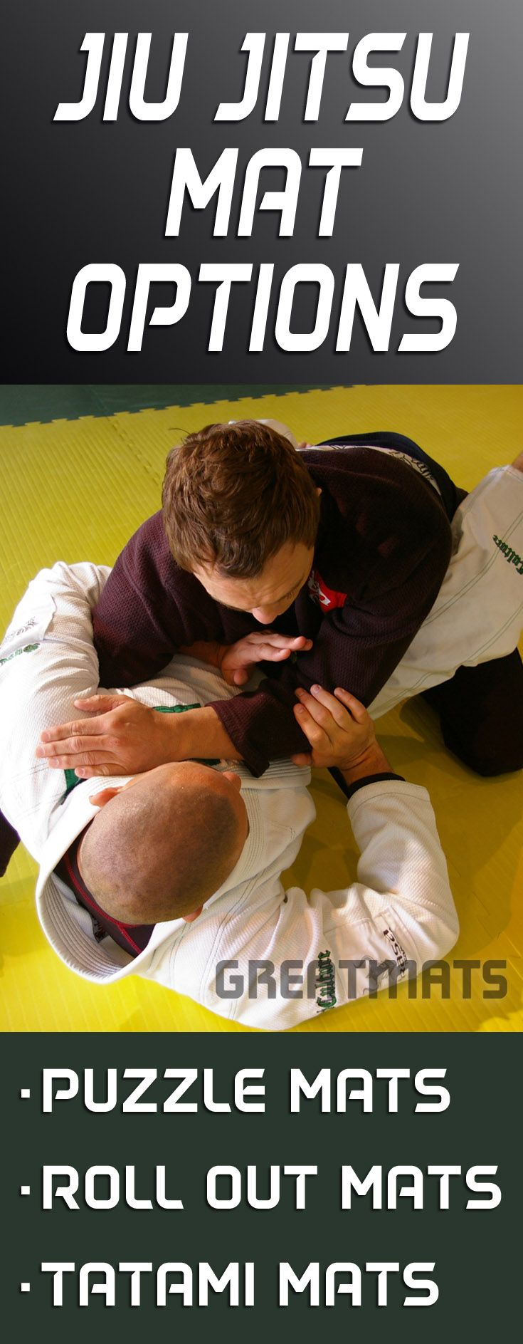 Greatmats offers one of the largest selections of jiu jitsu mats available.