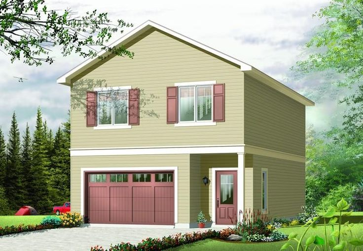 House plan 034 00893 traditional plan 1 042 square feet for 1 bedroom garage apartment