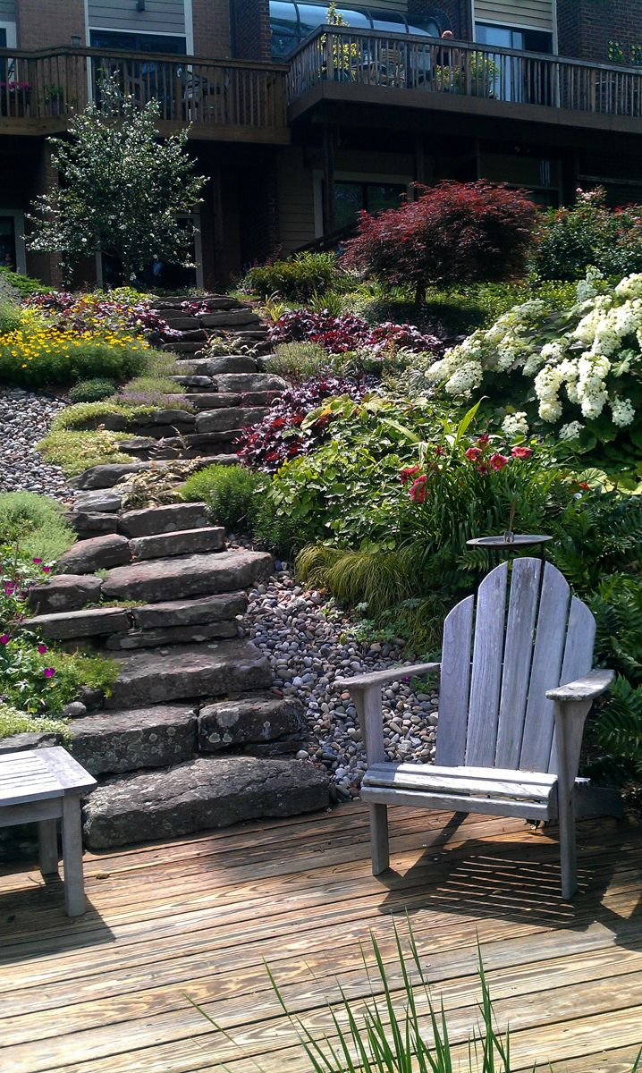 beautiful woodland garden John Magee designed for a client in northern Virginia.