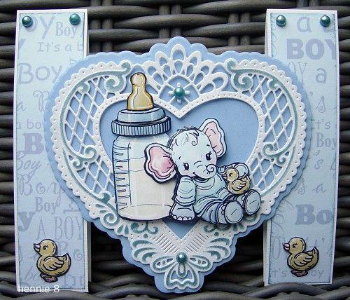 Voorbeeldkaart - geboorte kaartje - Categorie: Stansapparaten - Hobbyjournaal uw hobby website
