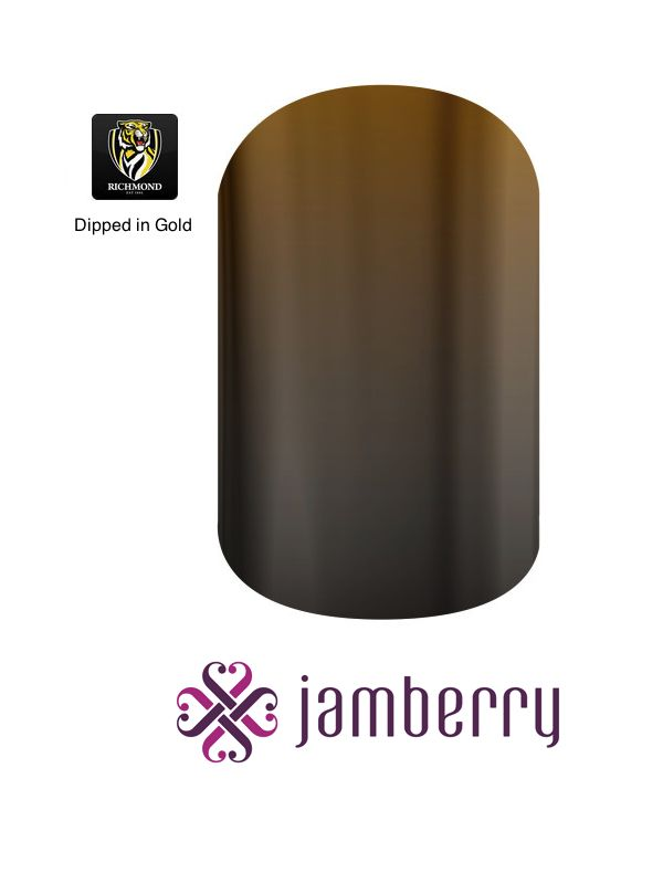 Jamberry Tigers Inspiration - Dipped in Gold