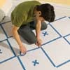 this old house tutorial on how to paint a diamond pattern on the floor