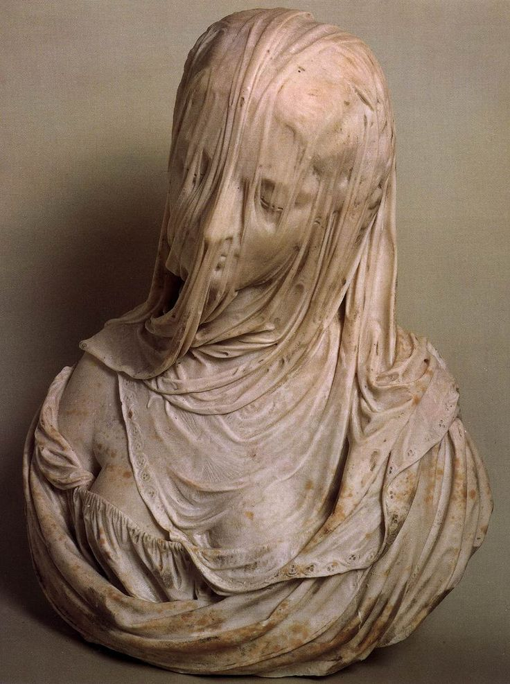 "Bust of a Veiled Woman (Puritas), by Antonio Corradini (1717-1725) Love, love these ""veiled"" sculptures. AMAZING@"