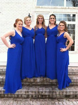 David's Bridal Horizon Blue F15530 Dress
