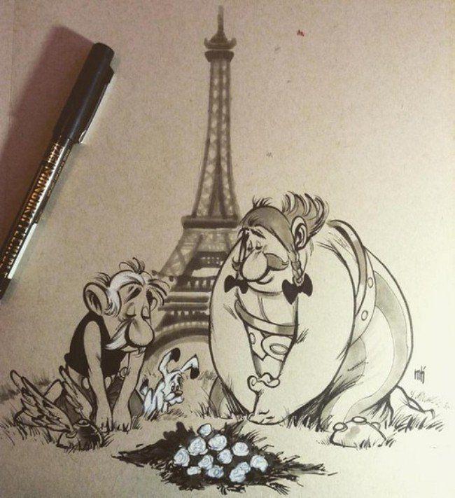 Des dessinateurs de Comics rendent hommage aux Attentats du 13 Novembre