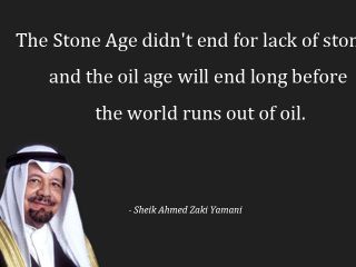 Age of OIl is over