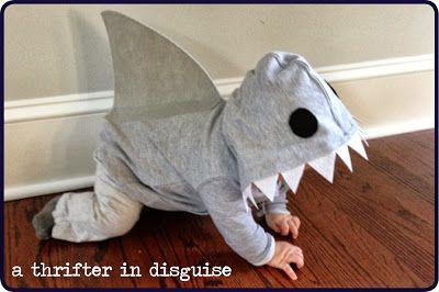DIY Shark Costume From a Hooded Sweatshirt