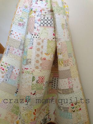 crazy mom quilts: sweet and low - low volume scrap quilt