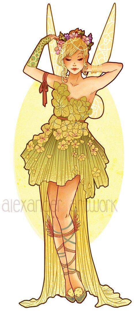 Art Nouveau Costume Designs VII: TinkerBell by Hannah Alexander