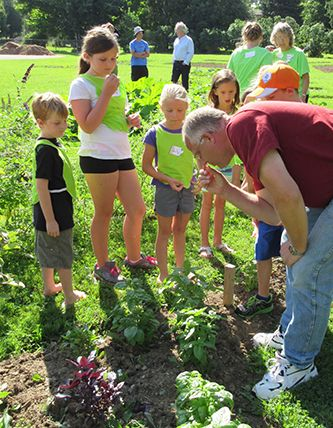 165 students participating in Vacation Bible School identified vegetables in The Garden, July 2015.  #community #garden #growinggoodness #sharingknowledge #nature #gardening #blythcreates #ruralcreativity