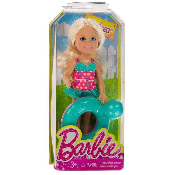 2013 Barbie Sister Chelsea Friends Pool Party Chelsea W Turtle Tube Float Ring Mattel