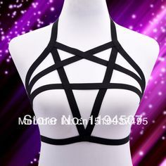 Cheap 2014 nueva WholesaleFree envios tres fila O Ring Harness   cuerpo jaula Bondage The star, satén elástico arnés, Compro Calidad   directamente de los surtidores de China: 2014 New WholesaleFree Shipping  NEW  Collar Frame Bra Harness Cage Bra Bondage Bows elastic body black Rose with HeartU