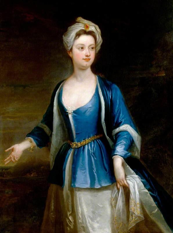 """Probably Dorothy, Viscountess Townshend"", studio of Charles Jervas, ca. 1715; NPG 2506"