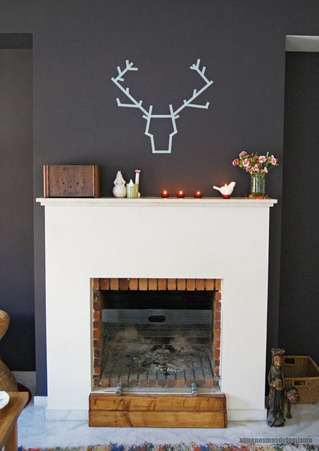 Washi tape @ mikala i dare you to do this above your fire place AWESOME!!!!