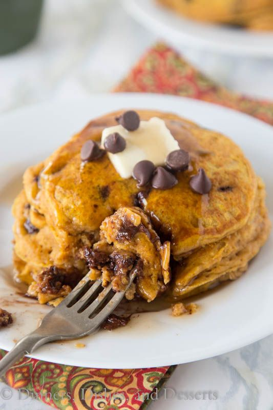 tiffany co shop online Pumpkin Chocolate Chip Pancakes  super light and fluffy pumpkin pancakes full with lots of chocolate chips and topped with maple syrup