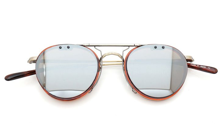 OLIVER-PEOPLES MP-2 RHV clip-on SDB/AS | clip-on mirror-sunglass by PonMegane