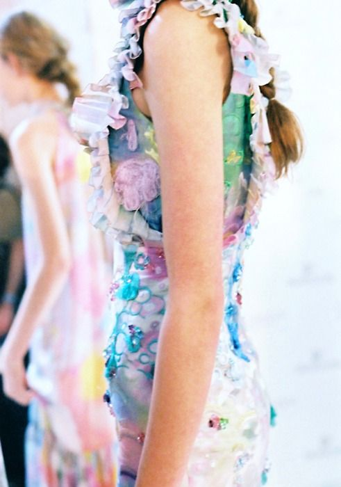 backstage at Erdem by Claire Robertson