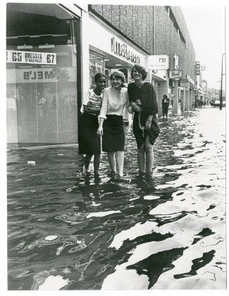 Haringey, flood in Wood Green, 1981