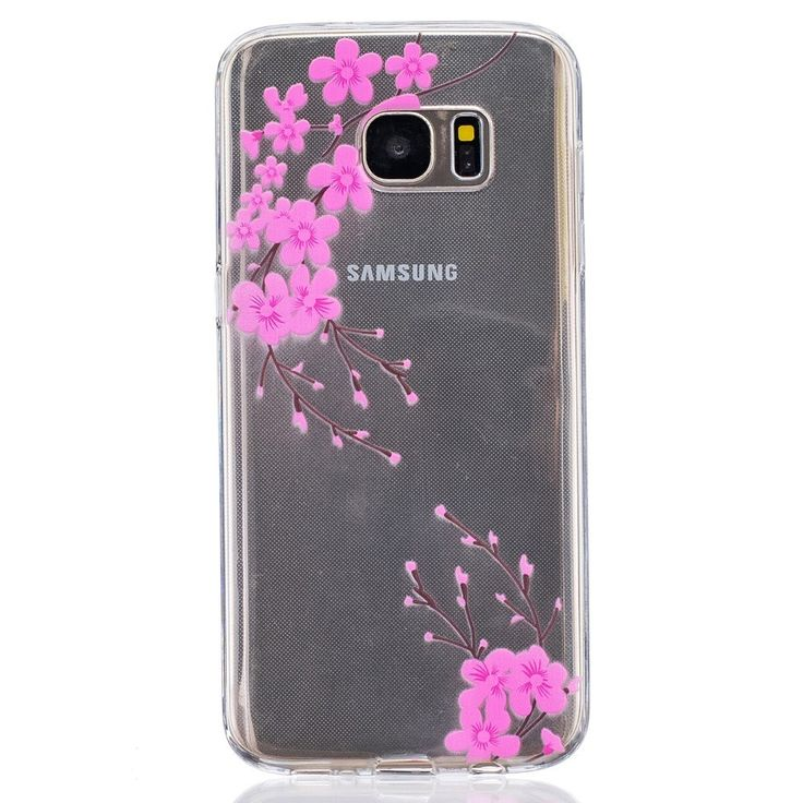 Coque Samsung Galaxy S7 Edge Transparent Fleurs Roses